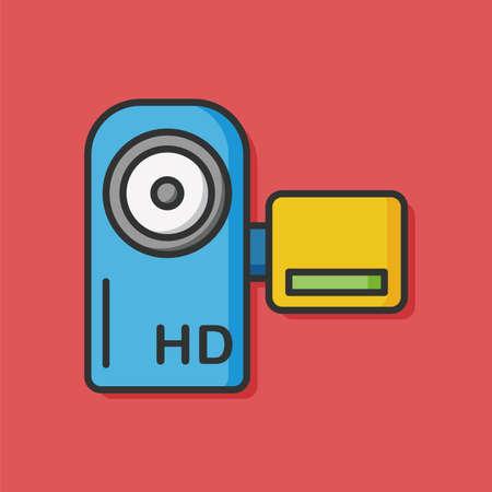 camera film: video camera film icon Illustration
