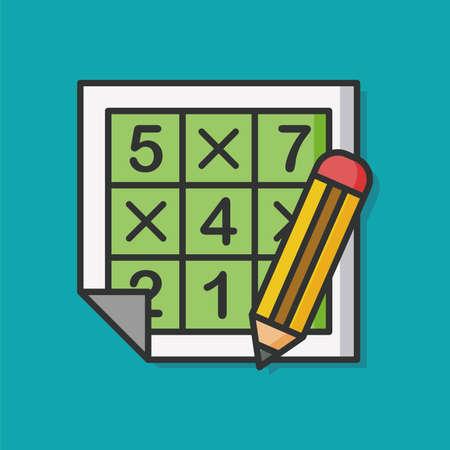 Sudoku icona del gioco di puzzle