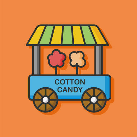 cotton candy: cotton candy dining car icon Illustration