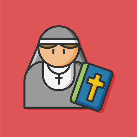 occupation: occupation character nun icon