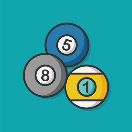 snooker rooms: sport billiards flat icon