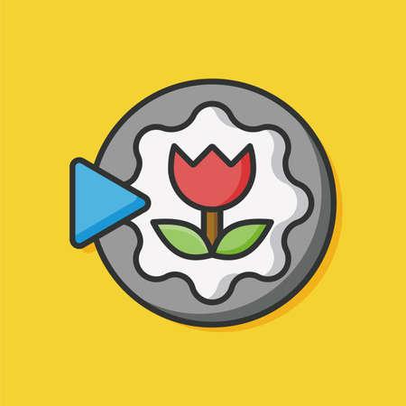 auto focus: Camera flower mode icon