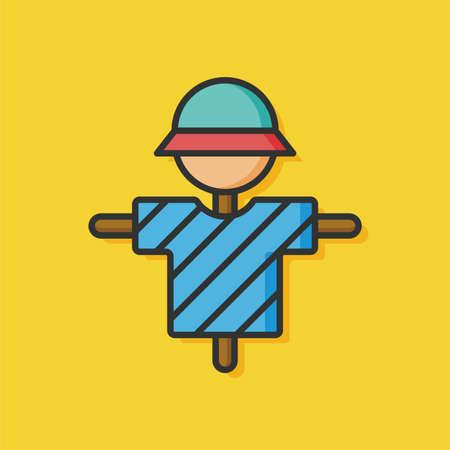 espantapajaros: agricultura icono del hombre del espantapájaros Vectores