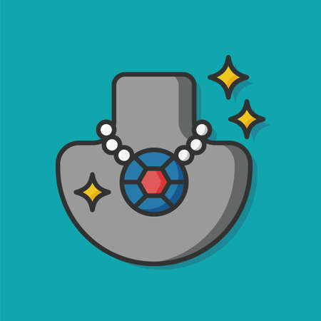 accessory: accessory jewelry necklace icon Illustration