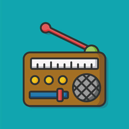 estereo: icono de radio Equipo de m�sica Vectores