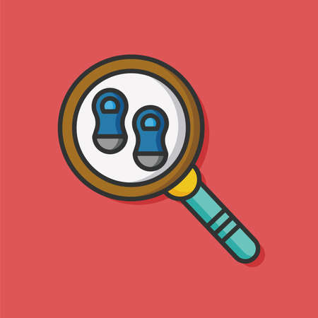 clues: Looking for clues vector icon Illustration