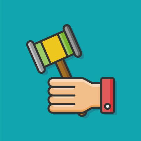 judge gavel: judge gavel vector icon