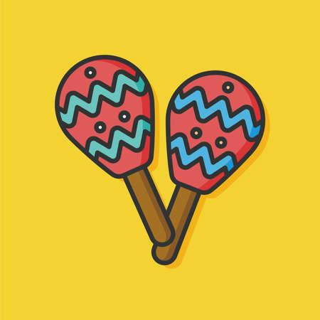 maraca: musical instrument maraca icon Illustration