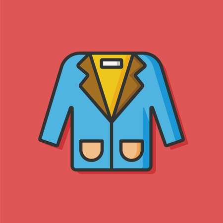 formal clothing: clothing formal suit icon Illustration