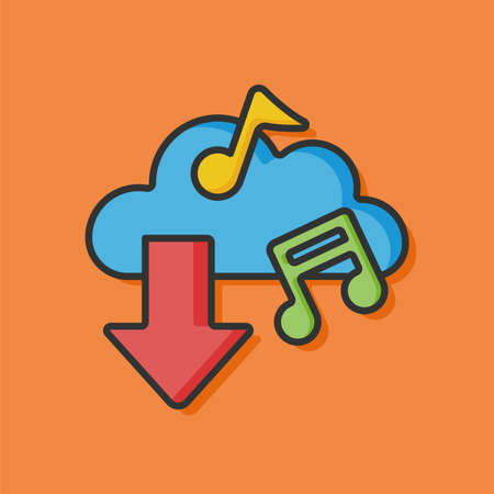 icloud: music i-cloud icon