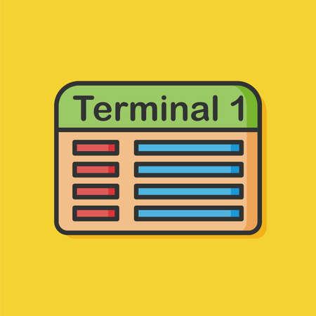 airport terminal: airport terminal icon Illustration