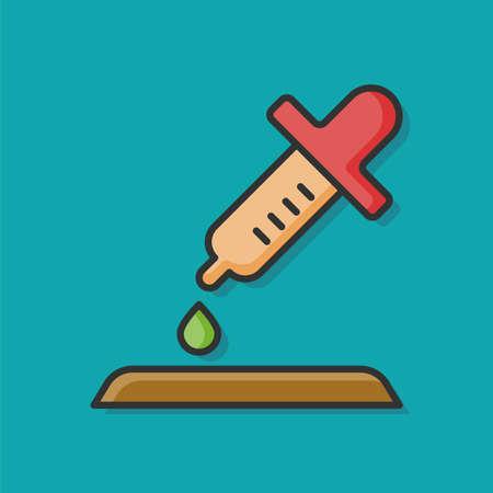 intravenous drip: medical drip vector icon