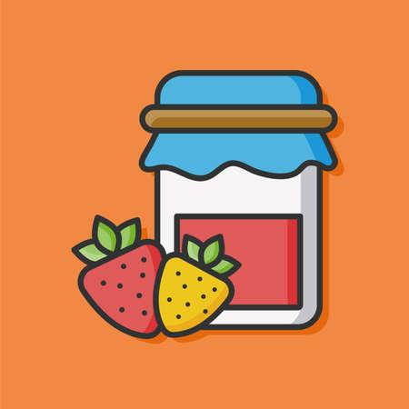 strawberry jam: fruit strawberry jam icon