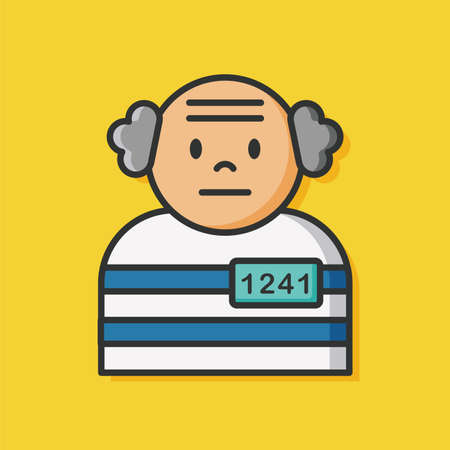 gripping bars: prisoner jail vector icon
