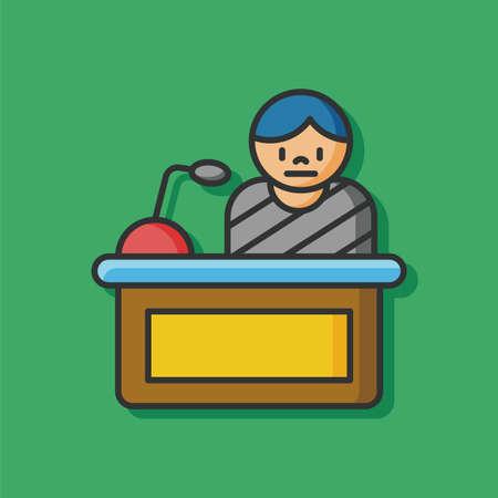 jurado: Jurado icono juez vectorial