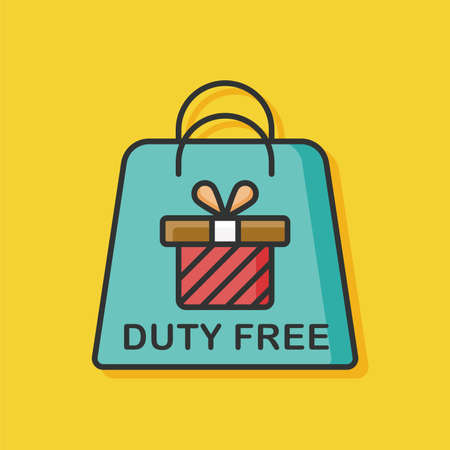 duty: duty free bag icon