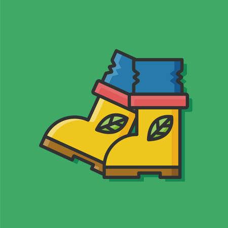 botas de lluvia: Botas de lluvia icono calzado Vectores