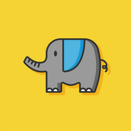 zoo: animal zoo elephant icon