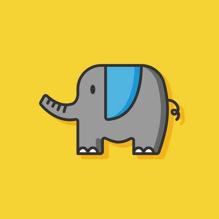 elefante: animales de zoológico icono de elefante
