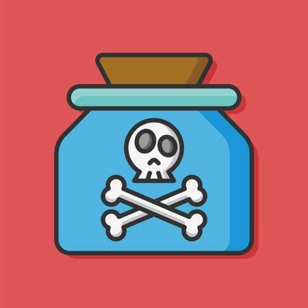 poison: Poison danger vector icon