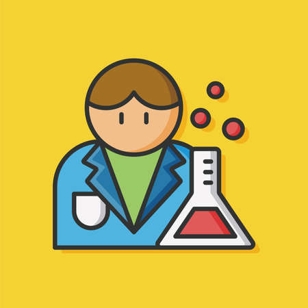 researcher: occupation character researcher icon