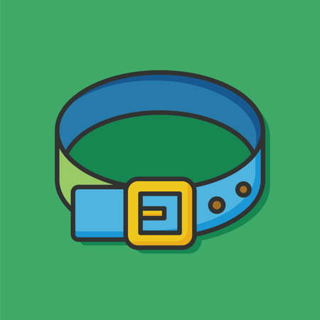 leather belt: accessory leather belt icon Illustration