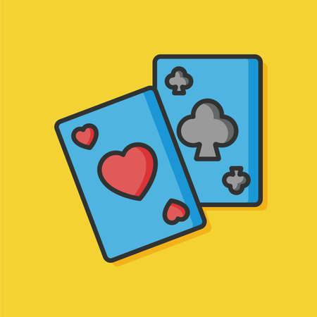 vegas sign: poker card game icon Illustration