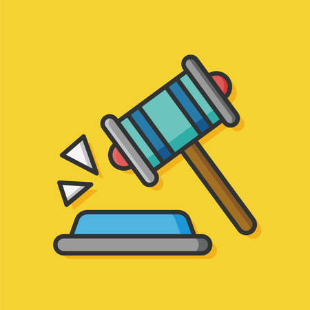 verdicts: judge gavel vector icon