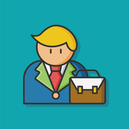 female lawyer: occupation character lawyer icon Illustration