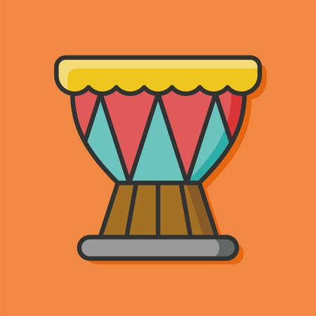 bass drum: music instrument drum icon