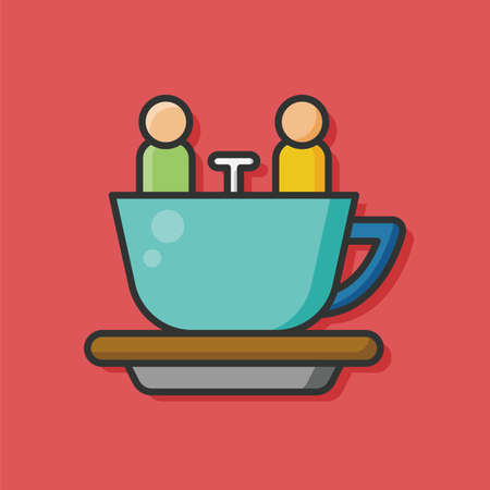 park: amusement park coffee-cup icon