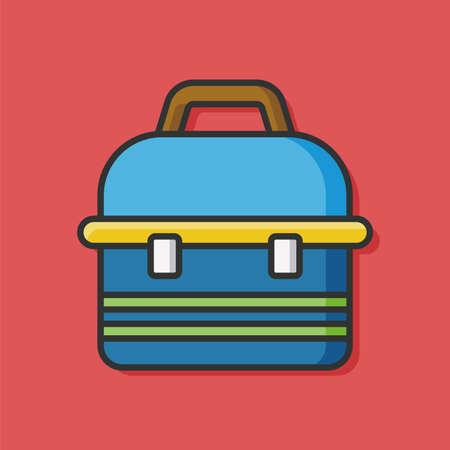 tackle box: fishing box vector icon