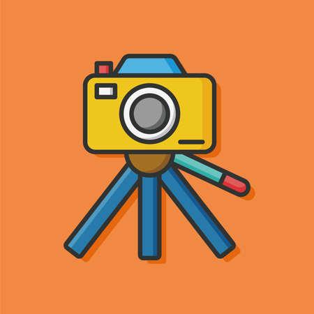 capturing: camera film photo icon Illustration