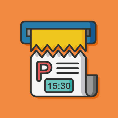 fee: parking fee vector icon Illustration