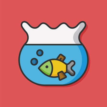 fishtank: Goldfish bowl vector icon