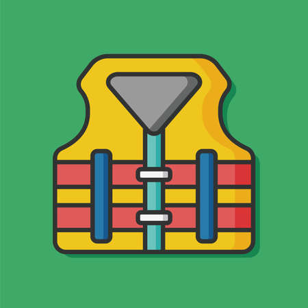 life jacket: life jacket vector icon