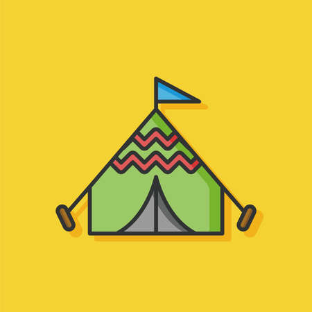 tent vector: camping tent vector icon Illustration