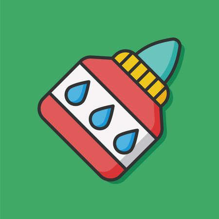 pegamento: efectos de escritorio del icono del vector de pegamento Vectores