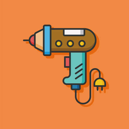 construction tools: drill tool vector icon