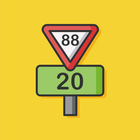 roadsign: traffic roadsign vector icon