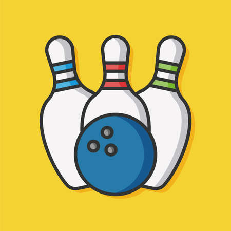 ten pin bowling: bowling sport vector icon Illustration