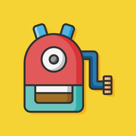 sharpener: Pencil sharpener vector icon Illustration