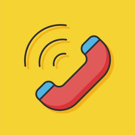 emergency call: emergency call vector icon Illustration