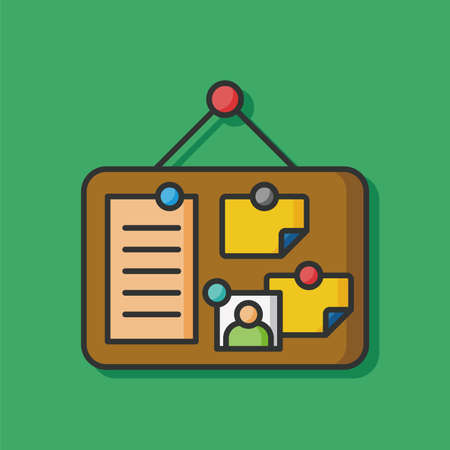 checklist: stationery vector Note Board icon