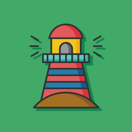 sea lighthouse vector icon