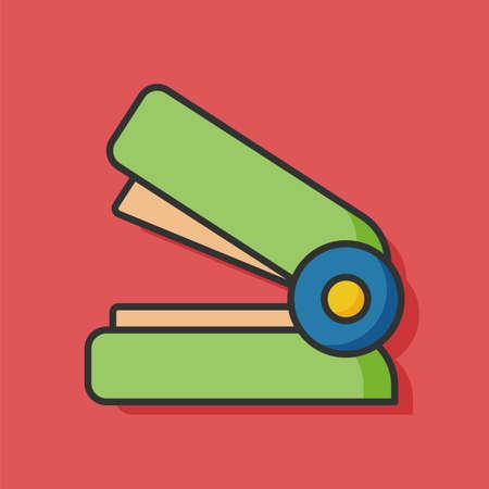 grapadora: efectos de escritorio del icono del vector de la grapadora