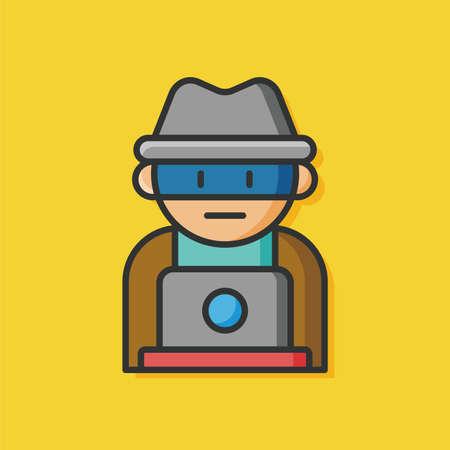 eye icon: security detective vector icon Illustration
