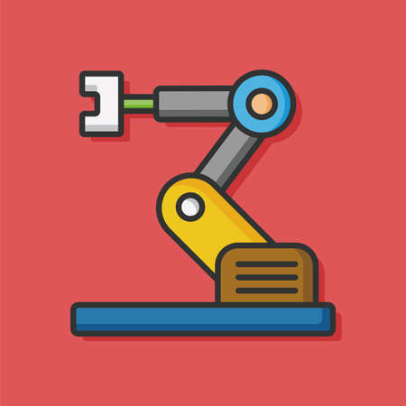 cnc: technology machine vector icon