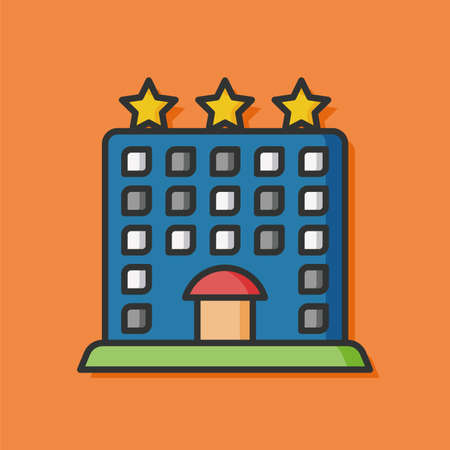 hotel: hotel building vector icon Illustration