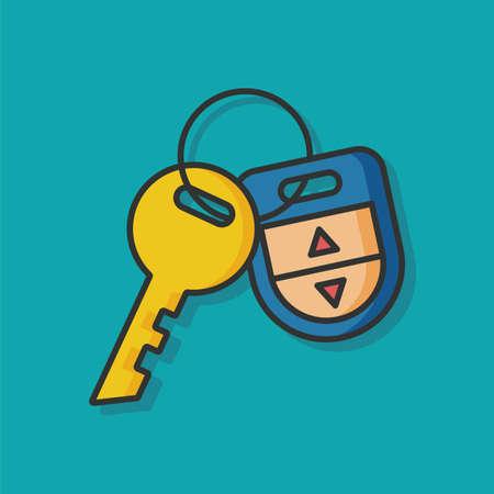 lock and key: key lock vector icon
